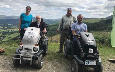 Galloper sponsors mobility vehicle for Whinlatter